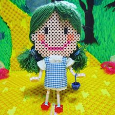 Dorothy doll - The Wizard of Oz hama beads by riguccimonamour