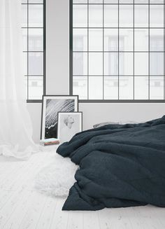 Such lovely clean lines. The other colour accents are beautiful. Bedroom Design by Raya Todorova, via Behance