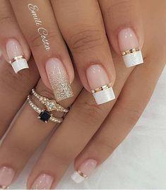 100 Beautiful wedding nail art ideas for your big day - wedding nails bride nails nail art romantic nails pink nails inspiration Simple Nail Art Designs, Winter Nail Designs, 3d Nail Designs, Elegant Nail Designs, Gorgeous Nails, Pretty Nails, Beautiful Nail Art, Hair And Nails, My Nails