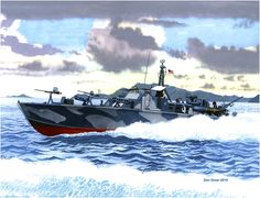 Lancha torpedera 132 en Corregidor (Filipinas) en 1942, USA