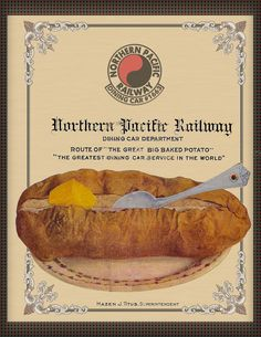 The Cover I created for my collection of recipes purchased from the estate of a retired chef that worked for the Northern Pacific Railroad.
