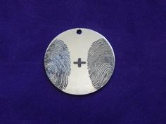 Two Fingerprints Pendant Necklace by ArchesWhorlsAndLoops on Etsy