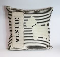 Pillow Cushion Cover with Eco Friendly Felt Westie - Decorative Accent Pillow Cushion Cover