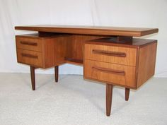 Vintage retro teak GPlan danish Kofod styling desk dressing table