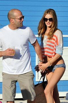 Rosie Huntington-Whiteley and Jason Statham Photo - Jason Statham and Rosie Huntington-Whiteley in Miami