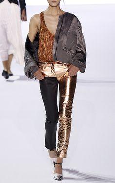 Leather Panelled Trouser by HAIDER ACKERMANN for Preorder on Moda Operandi