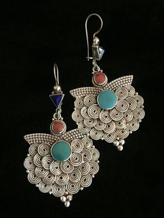 Original Nepali Silver Earrings
