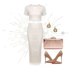 """Metallic Clutch"" by sillycatgrl ❤ liked on Polyvore featuring Eichholtz, KOTUR, Christian Louboutin and Liz Palacios"