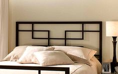 A modern metal headboard - Decoist