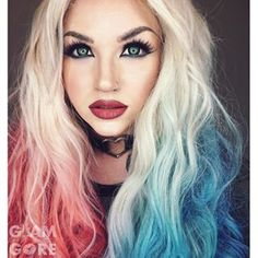 glam and gore (A.K.A) Mykie, wig video, Harley Quinn wig