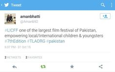 People are talking about us  Grab your seats | 7th Lahore Int'l. Children's Film Festival 2015 Www.thelittleart.org  #TLAORG #Lahore #Children #Film #Festival #LICFF #2k15 #art #education #NewGenerationCinema #socEnt #entertainment #instaphoto #instadaily #vsco #Pakistan #Youth #ArtsEd #CinepaxCinemas #cinemaforkids #artmatters #picoftheday #danida