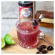 Black Cherry Sling | 21 Pretty Pink And Red Drinks For Valentine's Day