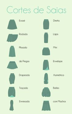 Skirts Types Skirt Fashion Fashion News Women's Fashion Fashion Dresses Fashion Design Look Do Dia Dress Patterns Sewing Patterns Skirt Fashion, Diy Fashion, Ideias Fashion, Fashion Dresses, Fashion Tips, Fashion Infographic, Fashion Dictionary, Fashion Vocabulary, Shoulder Hair