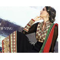 Eid Special Designer Black Straight Plazzo Style Salwaar Suit-6404( OFB-302 )Karishma
