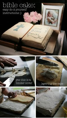 Book cake – DIY. I will not use a binder though!