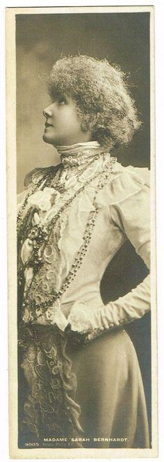 Sarah Bernhardt Rare Mignonette Edwardian Bookmark Postcard