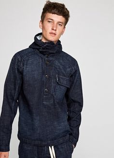 DENIM HOODIE 'BUCK' Pepe Jeans, Hooded Jacket, Athletic, Hoodies, Denim, Coat, Sweaters, Jackets, Collection