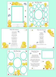 PREMADE SCRAPBOOK PAGES Duck Baby Neutral Gender by decampstudios