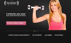 www.shake-weight.fr  mini site dédié à l'haltère à inertie dynamique