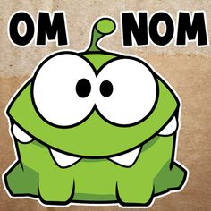 How to Draw Om Nom from Game Cut The Rope with Easy Step by Step Drawing Lesson