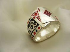 BLACK JACK 21 Mens Ring – Men's style, accessories, mens fashion trends 2020 Men's Jewelry Rings, Sea Glass Jewelry, Silver Jewelry, Man Jewelry, Jewellery, Gypsy Rings, Boho Rings, Diy Man, Gold Man