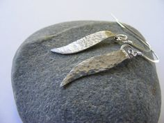 A Moment Silver Earrings by kerstiewhiley on Etsy. £15.00, via Etsy.