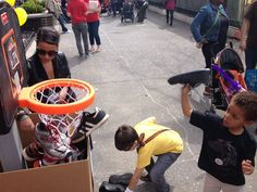 The support for Dunk Your Kicks today was overflowing... Literally! — at Cozy's Cuts For Kids. #MaxCureFoundation