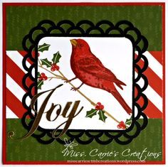 Check out this amazing Christmas Card using the CTMH Thoughtful Bird stamp set.   #ctmhthoughtfulbird #christmascard #cricut