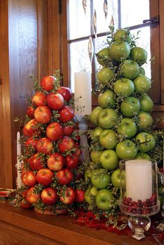 Apple topiary/tree in the kitchen