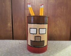 MINECRAFT HEROBRINE Recycle Can Holder G