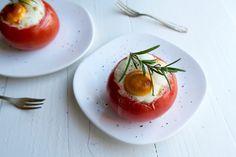 Gevulde tomaten met feta uit de oven