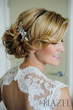 PRETTY hair! Lovely for a bride!