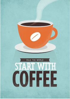 Retro-style typographic coffee quote by NeueGraphic