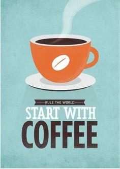 Retro-style typographic coffee quote by NeueGraphic