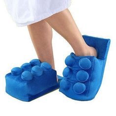 Plush Slippers Winter Plush Building Brick Slippers Cover Your Feet Warm Shoes