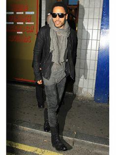 Lenny Kravitz, great street style