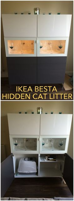 A hidden litter tray in a BESTÅ unit - IKEA Hackers - IKEA Hackers
