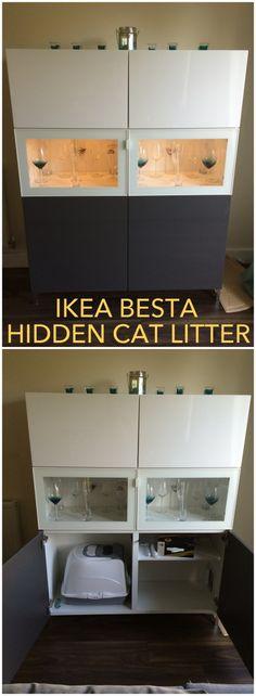 A hidden litter tray in a BESTÅ unit - IKEA Hackers - IKEA Hackers