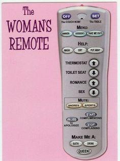 Woman's Remote