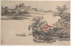 Landscape with Autumn Foliage  Attributed to Shen Zhou  (Chinese, 1427–1509)