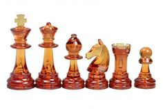 These Stantuon Standard chess pieces have been made from transparent plastic and they are packed in a polybag as an economical set. With a 9,6 cm King this set is ideal for our folding plastic and vinyl roll-up chess boards with square size of 55 mm. They are available in transparent clear/transparent amber colour. Chess Books, Chess Pieces, Amber Color, Online Games, Alice In Wonderland, Favorite Color, Board Games, Vinyl Roll, Boards