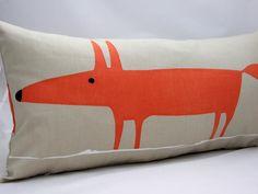 Scion Mr Fox Fabric Cushion Cover Neutral Paprika, £10.00