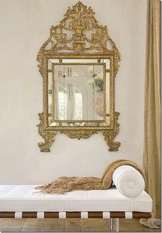 mirror chaise lounge