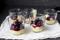 Vanilla Custard with Roasted Blueberries