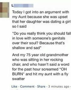 Grandmas are the best.