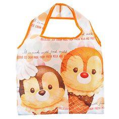 TSUM TSUM ICE CREAM Eco Tote Bag Chip & Dale ❤ Disney Store Japan