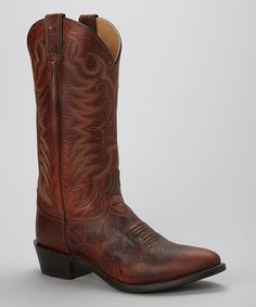 Love this Justin Boots Cognac Damiana Cowboy Boot - Men by Justin Boots on #zulily! #zulilyfinds