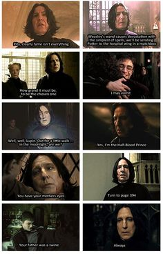 scenes Snape owned Severus Snape Quotes, Harry Potter Severus Snape, Alan Rickman Severus Snape, Severus Rogue, Professor Severus Snape, Hermione Granger, Draco Malfoy, Harry Potter Jokes, Harry Potter Pictures