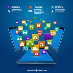 Diseño de aplicaciones móviles Vector Gratis