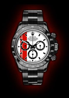 Rolex Daytona Red Racing. By designer Niklas Bergenstjerna.